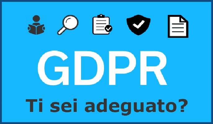 GDPR privacy sito internet