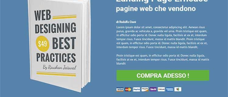 Landing page cos'è ? Pagina web che vende