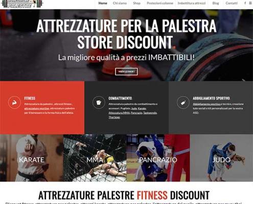 realizzazione sito web attrezzature palestre