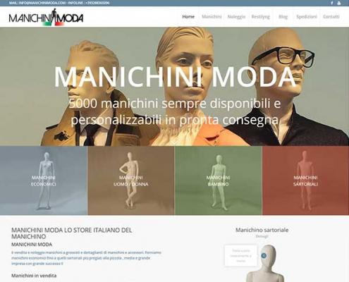 realizzazione siti internet e commerce manichini