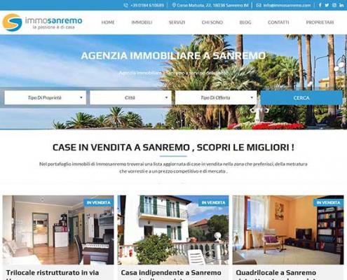 realizzazione siti web agenzia immobiliare a sanremo